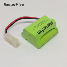 MasterFire 3PACK/LOT New Original 6V AA 1800mah Ni-MH Battery Pack Rechargeable Batteries With Plugs