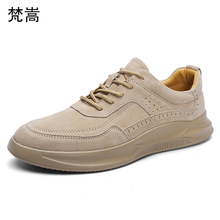 Mens shoes 2019 spring tide shoes Korean version fashion Men casual shoes fashion retro sneakers all-match cowhide autumn summer fashion spring summer new style keep warm canvas gaiters shoes korean men breathable casual comfortable all match skate shoes