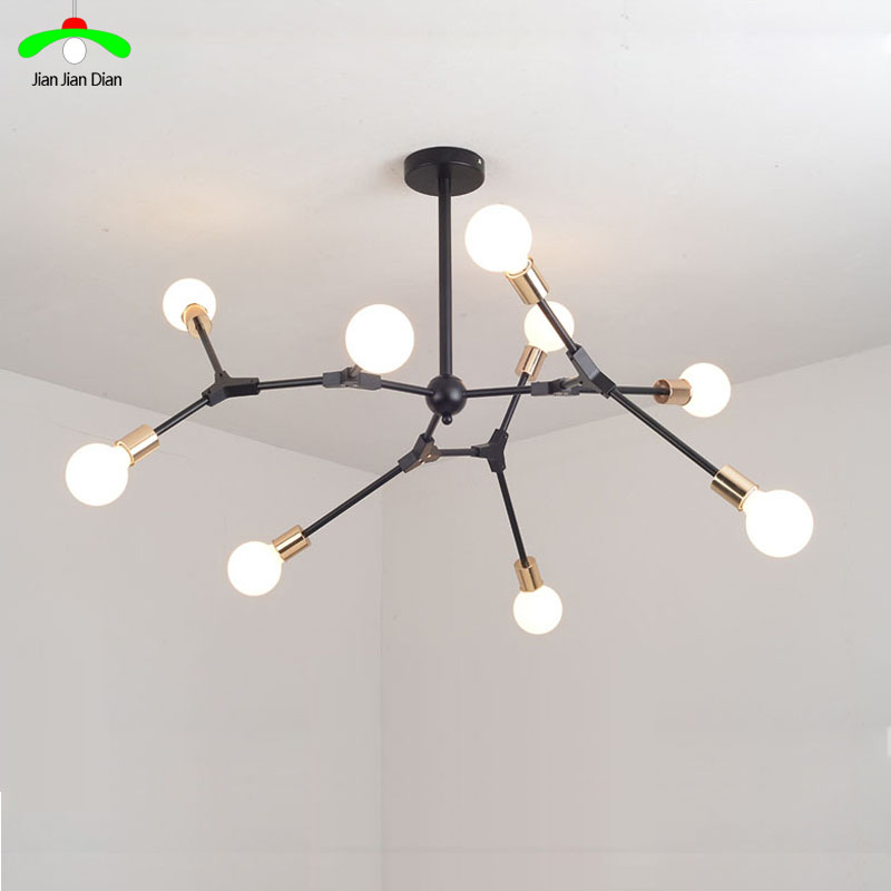 Modern ceiling chandelier wrought iron lamps living room bedroom restaurant creative industrial wind individuality lamp modern fashion simple iron industrial wind pentagonal star chandelier hall corridor living room bedroom chandelier page 5