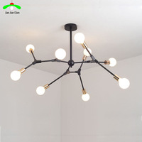 Modern Ceiling Chandelier Wrought Iron Lamps Living Room Bedroom Restaurant Creative Industrial Wind Individuality Lamp
