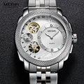 MEGIR herren Stahl Quarz Handgelenk Uhren Mode Wasserdichte Uhr Uhren Dekorative Mechanische Relogios Mann 2091G-7