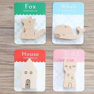 1 pçs forma animal de madeira natural memo pinça clipes papel foto clipe titular pequenos grampos suporte peg decoração para casa estatuetas