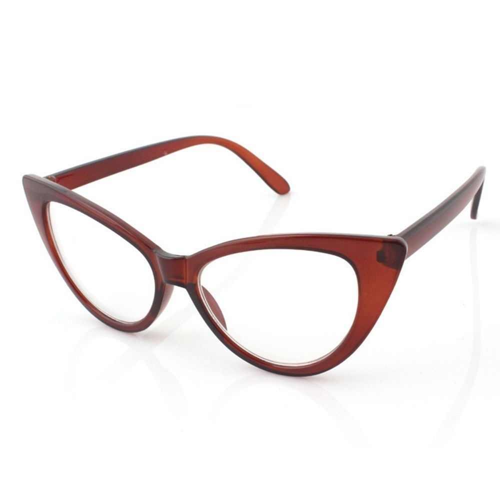 5437a686ca Classic Modern Elegant Cat Eyes Shape Glasses Frame For Ladies Acetate  Optical Frames Retro Plastic Plain
