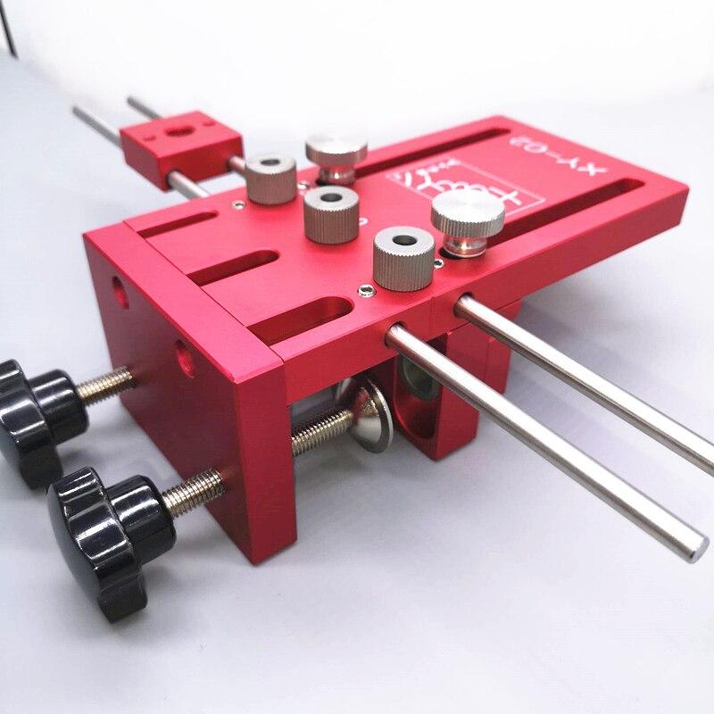 Pointeuse pour Meubles Rapide Raccordement Cam Montage 3 En 1 Bois Drill Guide Kit Locator