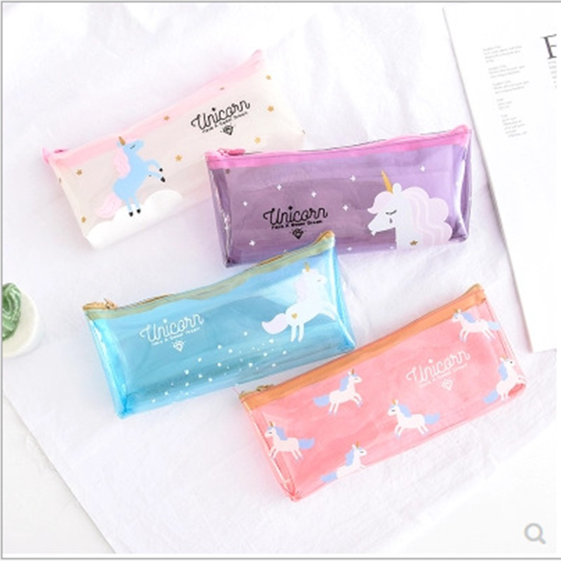 1PC Cute Student Art Unicorn Pencil Bag Unicorn Party Baby Shower Wedding Favors and Gifts Birthday Party Decoration Kids Gift.L