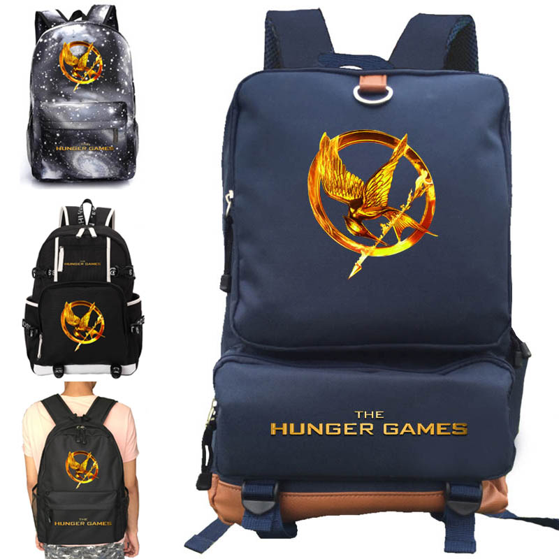 The Hunger Games Backpack School Bag Notebook Backpack Daily Backpack Creative Gift Black Blue Pink Purple