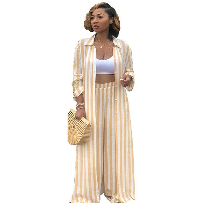 Women's Two Piece Sets Leisure Trouser Suits Long Shirt Top and Wide Leg Pants Set Autumn Matching Sets Outfit Tracksuit Women