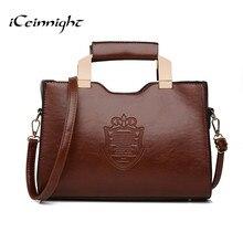 ICeinnight 2016 женщин сумки старинные мешки плеча высокого качества пу кожа сумки посыльного длинный ремень bolsa feminina доллар