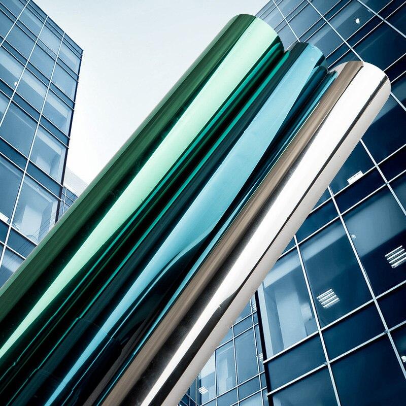 40/50/60/70/80/90*500 cm Specchio Isolamento Solare Tinta Finestra Film adesivi UV Riflettente di Un Senso di Privacy Decorazione Per Il Vetro