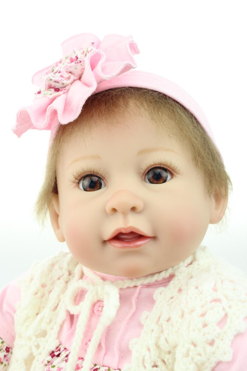 22 Inch 55cm Cut Dolls Reborn Baby Dolls Handmade Realistic Soft Silicone Newborn Bonecas Briquedo Child Love Gift