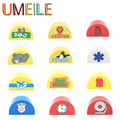 UMEILE Zoo Animal Fun Farm Doorplate Large Particle Accessories Creative DIY Building Blocks Kids Toys Compatible With Duplo