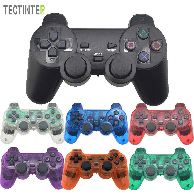Gamepad senza fili per Sony PS2 Controller per Playstation 2 Console Joystick Doppia Vibrazione di Scossa Joypad Senza Fili Controle