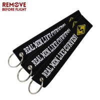Remove before flight key chain for