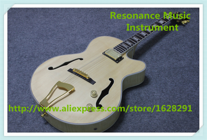 Hot Selling Natural Wood G L5 Guitar Electric China OEM Custom Shop Jazz Guitar As Picture china oem firehawk shop guitar hot selling tl electric guitar stained maple tiger stripes maple wood color page 3