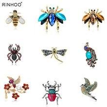 d1dbab3680e Новые Природный Животные Jewelry Брошь контакты Би Стрекоза насекомых  попугай птица Жук броши для Для женщин