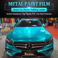 Carbins автомобиля обертывания Плёнки металла Краски Бирюзовый Цвет