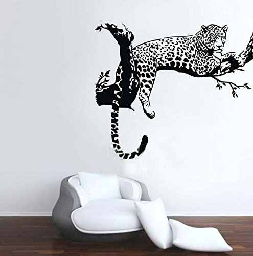 Animal Wild Zoo Leopards Cheetahs Tail Wall Decal Sticker Living Room Vinyl Wall Stickers for Kids Room Home Decor QT004