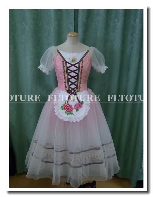 Романтичное длинное платье для балета розовый цвет балетные костюмы для Коппелия и Жизель девочек мягкие Тюлевая юбка SB0200