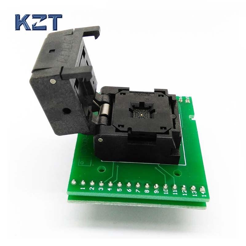 QFN28 MLF28 WLCSP28 à DIP28 De Programmation De Test Adapter Pas 0.5mm IC Corps Taille 5x5IC550-0284-011-G À Clapet SMD/SMT Essai socket
