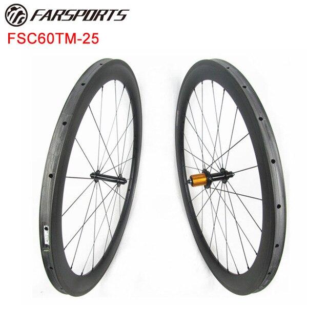 6709d0e6277 700c high-temp resin basalt brake carbon wheelset 60mmx25mm tubular rims  100% hand built chinese carbon wheles Xiamen Farsports