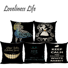 Funny European Cartoon Series Dream Linen Pillow Cushion Cover Home Christmas Decorative Pillow Case Almofadas Cojines