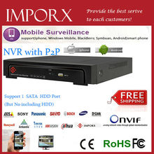 Securoty camera 8 canales cctv nvr hd full  8ch h.264 de redes video apoyo grabadora cms  2.0 onvif nvr  ip camea