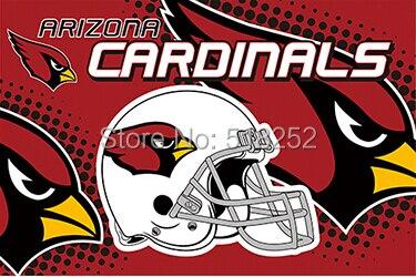 Arizona Cardinals new helmet Flag 3x5 FT 150X90CM NFL Banner 100D Polyester Custom flag603, free shipping