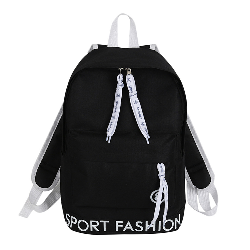 2019 New Cute Small Fresh Alphabet Backpack Cute Streamer Letter College Wind Backpack Candy Color Student Travel Bag dropship(China)