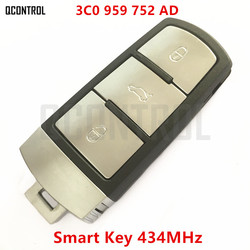 QCONTROL Car Remote Smart Key DIY for VW/VOLKSWAGEN 3C0959752AD / HLO3C0959752AD for PASSAT/CC/MAGOTAN Complete Key