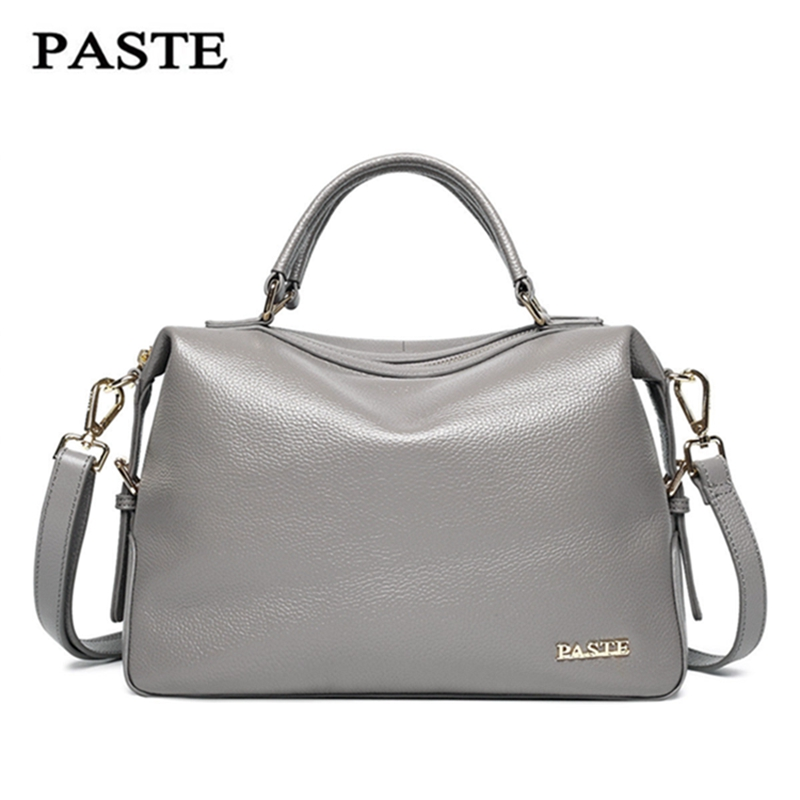 PASTE 2018 Genuine Leather Women Handbag Fashion Luxury Shoulder Bags Solid Zipper Women Pillow Bag Ladies Bag Bolsos Sac a Main joyir fashion genuine leather women handbag luxury famous brands shoulder bag tote bag ladies bolsas femininas sac a main 2017