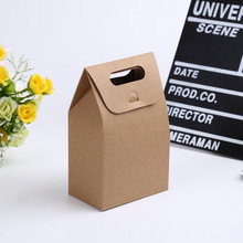 100 pcs 10x6x15.5cm candy box kids Birthday party cookies bag kraft paper gift box handle candy packaging kids white gift bag все цены
