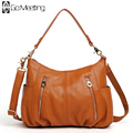 Go Meetting Brand Genuine Leather Women Shoulder Bag High Quality Cow Leather Women's Crossbody Bags Fashion Messenger Bags WD6
