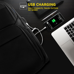 Image 4 - Shockproof Mens USB Charging Anti Theft Backpacks Waterproof 15.6 inch Black Male Laptop Bagpacks Multifunction Travel Bags