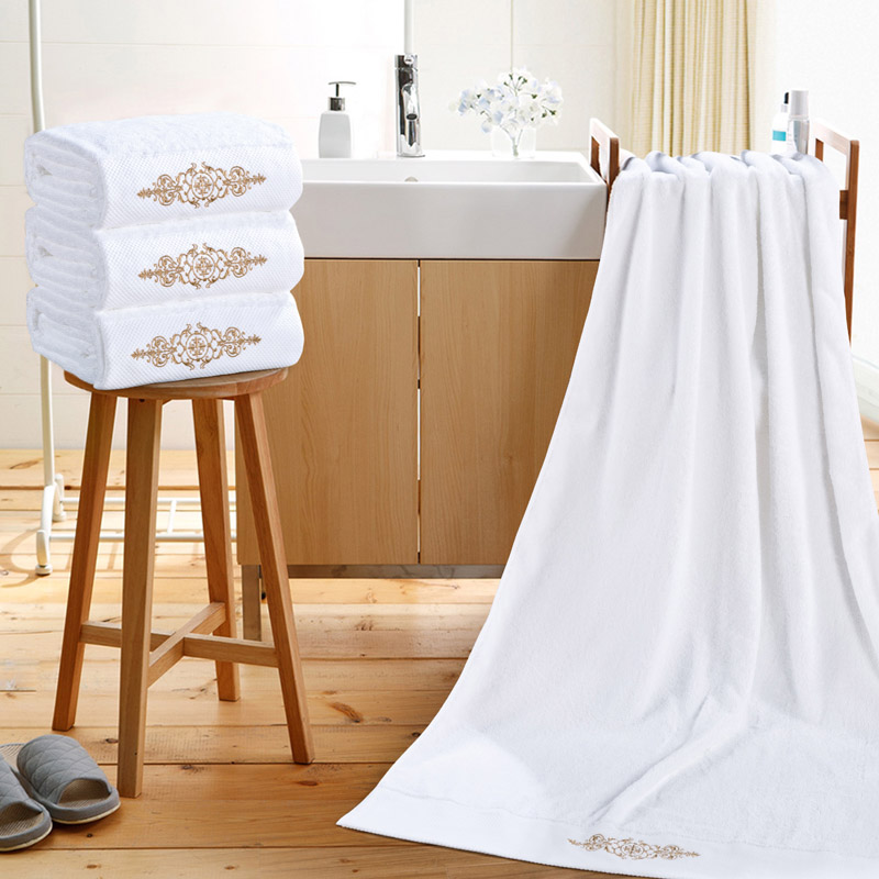 di alta qualit asciugamani da bagno asciugamani da bagno per adulti bianco ricamo cotone cucina bagno