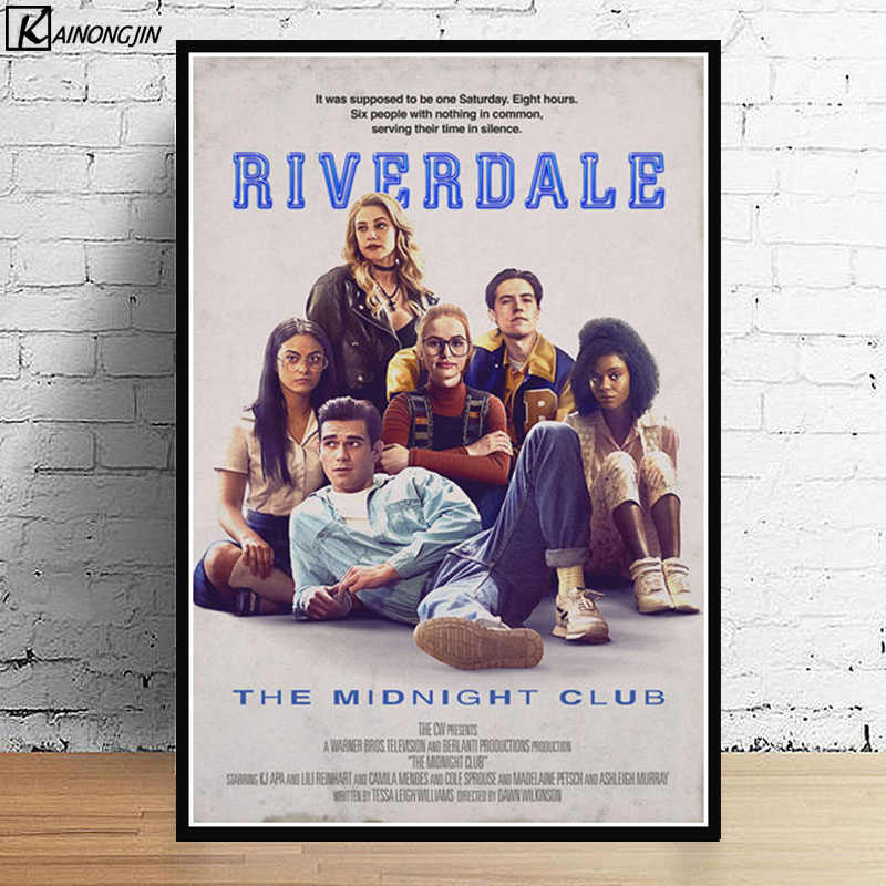 Hot Riverdale Poster Season 2 3 TV Series Show Pop Movie Posters and Prints Canvas Painting Wall Art Picture for Room Home Decor