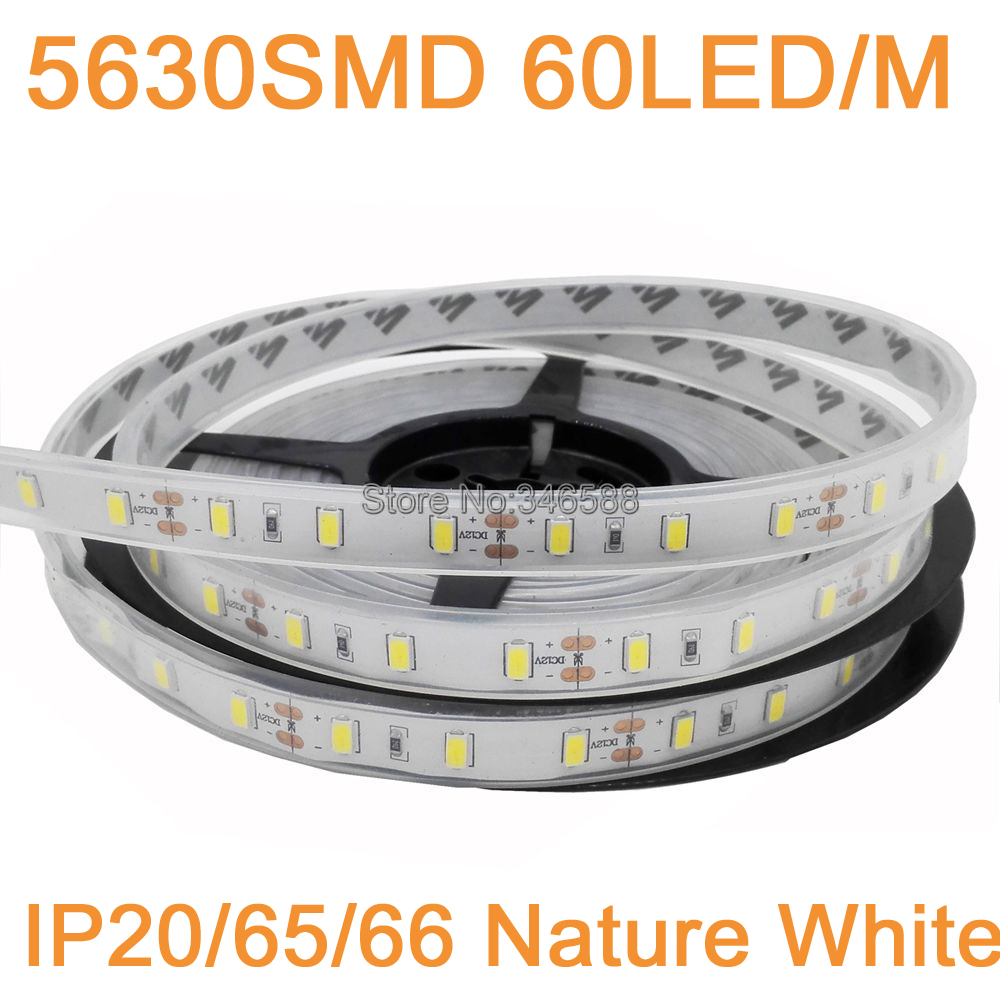 Led Strip Waterproof 5m 12v 5630 Led Strip Light Neutral White Nature White 60led M