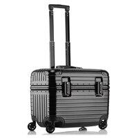 Авиакомпания Бизнес Дорожный чемодан для багажа Алюминиевый Чемодан 18/24 дюйма сумка на колесах для компьютера Корпус 20 Carry On интернат окно