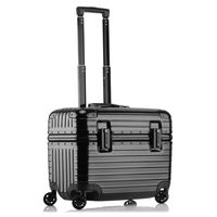 Airline Business Travel suitcase Rolling Luggage Aluminum Suitcase 18/24 Inch Computer Trolley Case PC 20 Carry On boarding Box