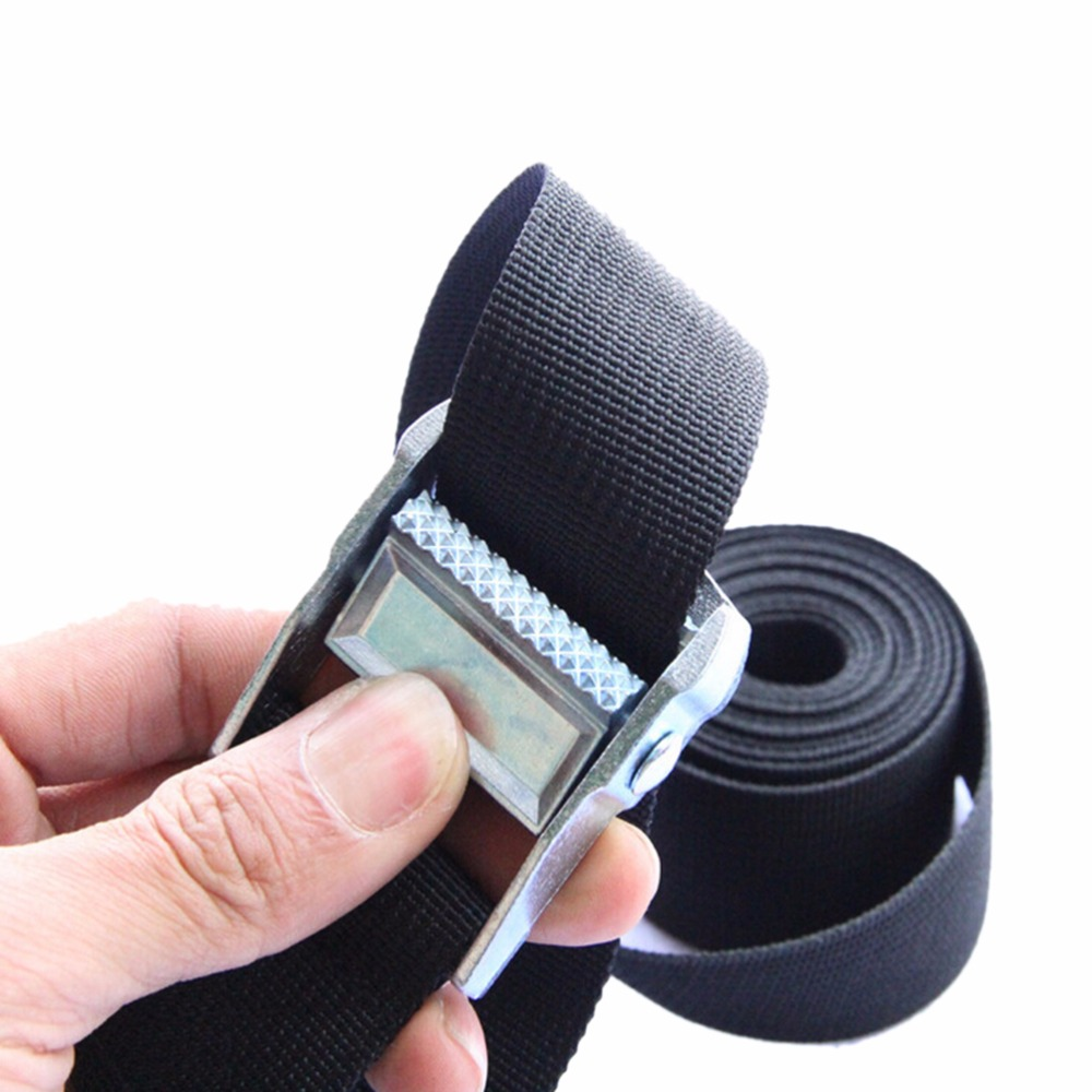 1-4 M Width Nylon Pack Cam Tie Down Strap Lash Luggage Bag Belt Metal Buckle 25mm