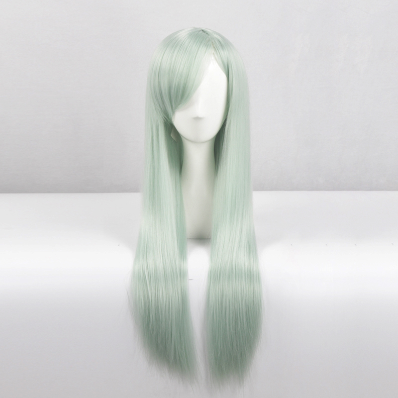 100% Quality The Seven Deadly Sins Elizabeth Liones Cosplay Wig Hair Light Green Long Wig Halloween Carnival Wigs