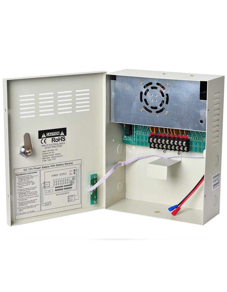 CCTV Camera Power Supply 12V 20A DC UPS Uninterruptable Power Box 9 Channels