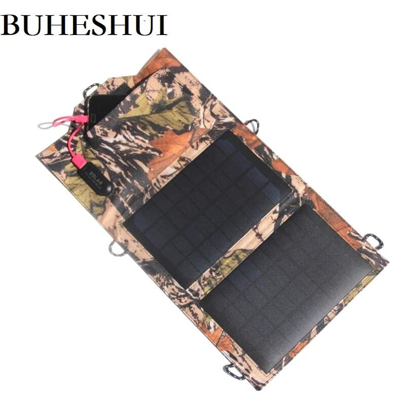 BUHESHUI 8 watts chargeur solaire panneau solaire Source d'alimentation chargeur batterie Pack chargeur de secours pour téléphones mobiles de haute qualité