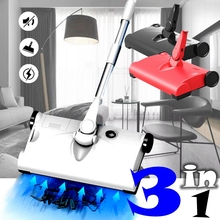Wireless Hand Push Sweeper Household Handheld Vacuum Cleaner Sweeper Rechargeable Dirt Dust Collector Home Office Cleaning Tools