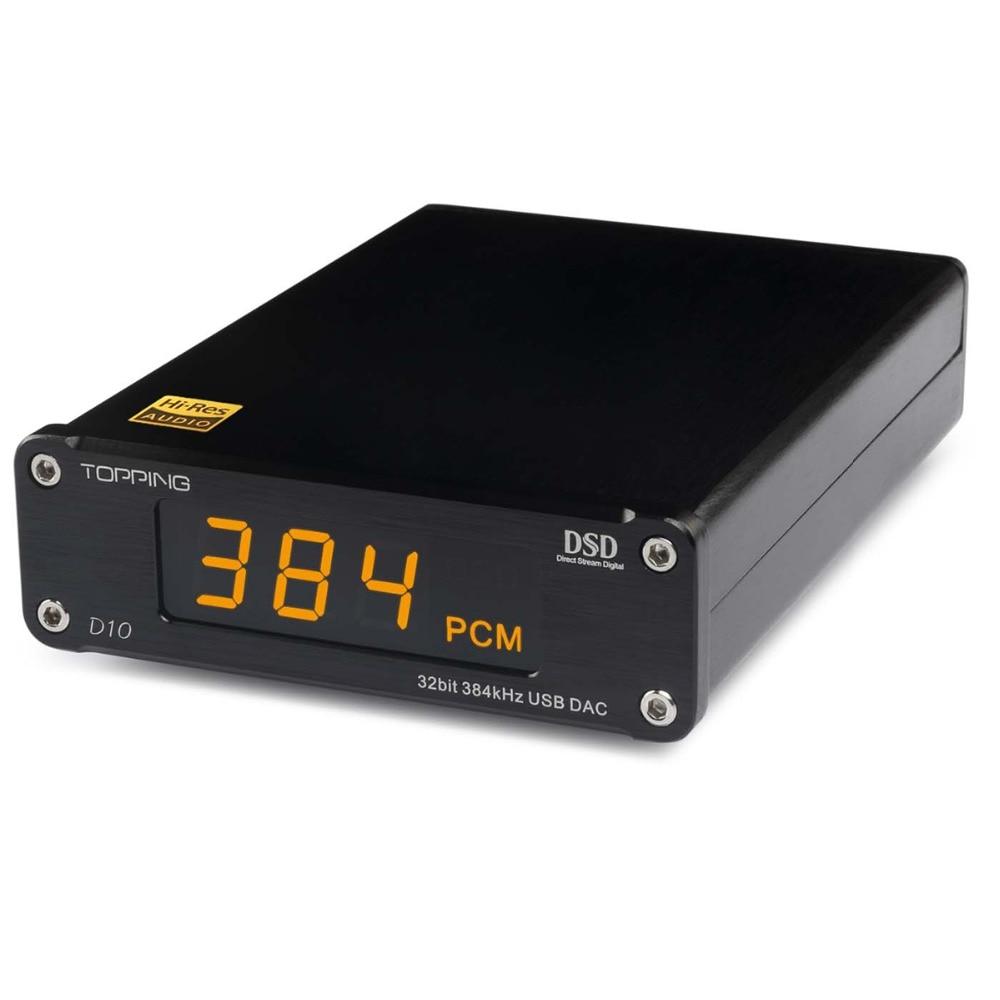Nouveau TOPPING D10 MINI USB DAC DSD PCM384 CSS XMOS XU208 ES9018K2M OPA2134 décodeur amplificateur audio