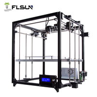 Germany warehouse Flsun 3D Printer Large Printing Size 260*260*350mm Heated Bed SD Card ,Two Rolls Filament