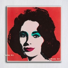 Pop Canvas Art  handpainted oil Painting ANDY WARHOL Elizabeth 1964 Wall Pictures For Living Room Home Decor Modern Oil
