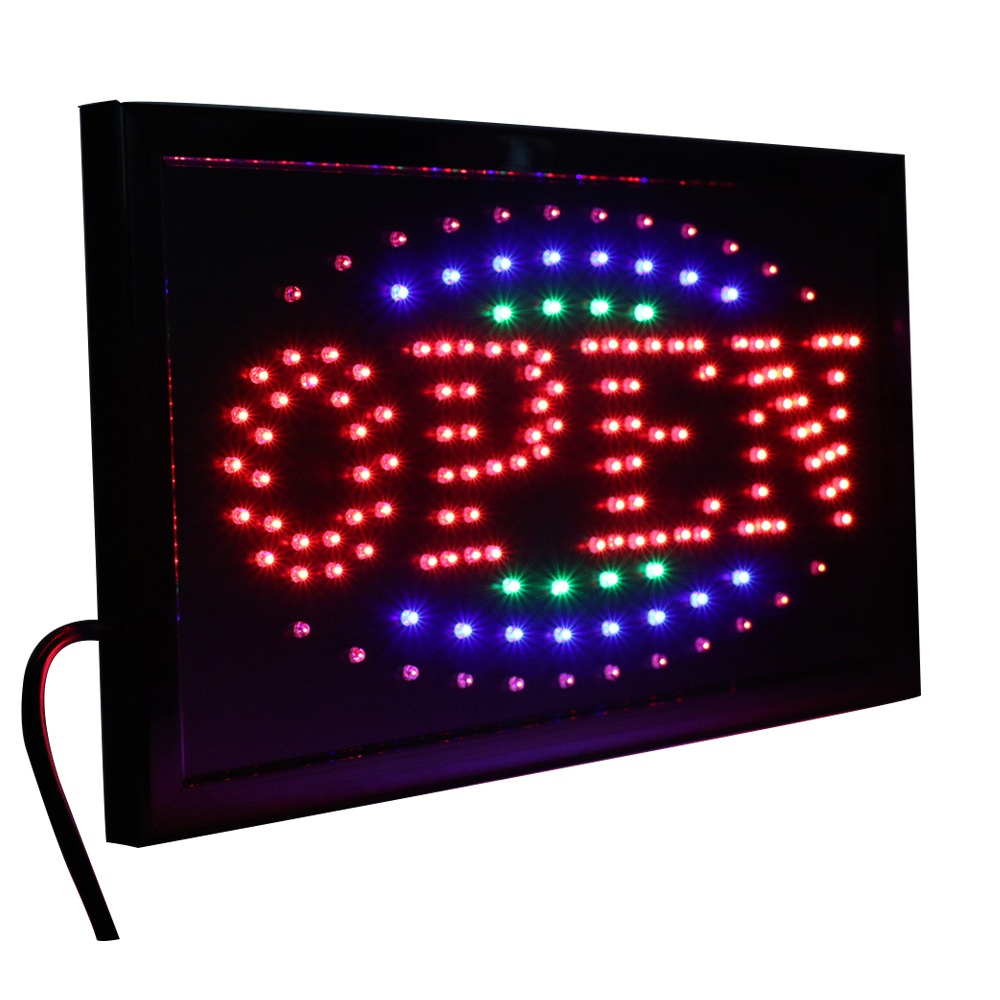 цена на CHENXI 36 Styles LED Open Sign Neon Light 10X19 inch Animated Business Shop Store Open Window Display PVC Frame Indoor
