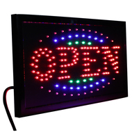 CHENXI 36 Styles LED Open Sign Neon Light 10X19 inch Animated Business Shop Store Open Window Display PVC Frame Indoor