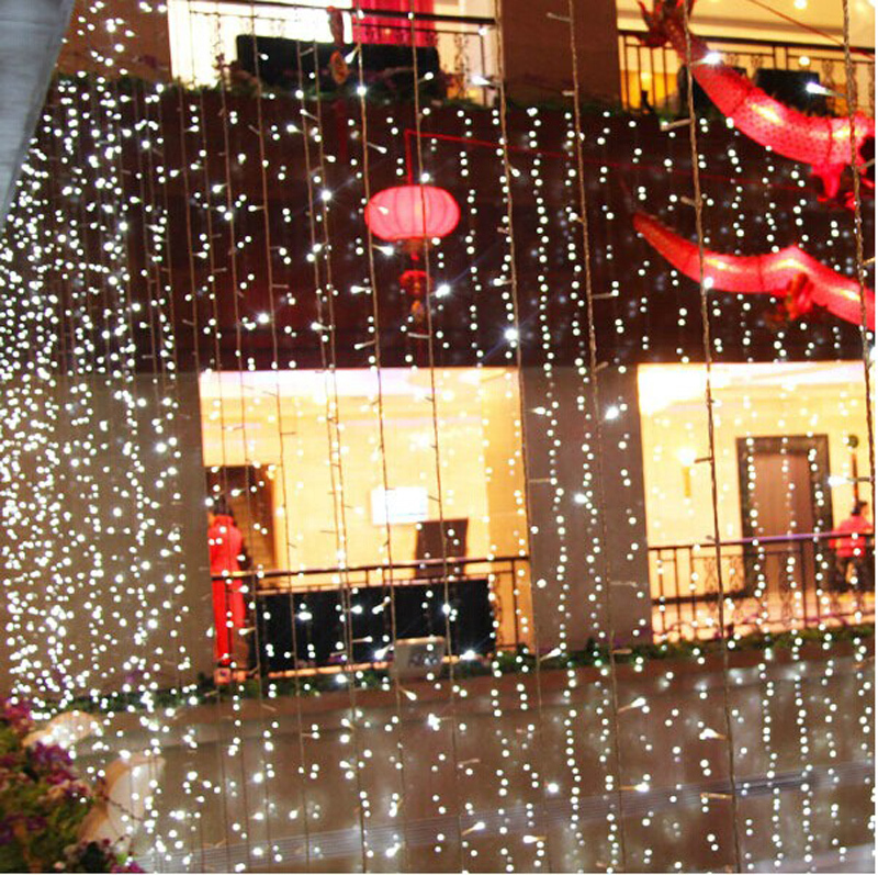 Christmas Decorations Ideas For Hotels: 8Mx4M LED String Fairy Curtain Lights Outdoor Christmas