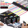 Bianyo 36 Colors Artist Dual Head Sketch Manga Markers Double Line Professional Alcohol Based Ink Markers for Design Supplies